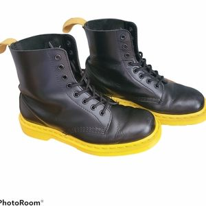 RARE Dr. Martens Pascal Boots with Yellow Soles